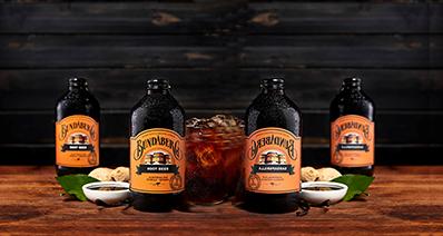 4 bottles of Bundaberg Root Beer with ingredients