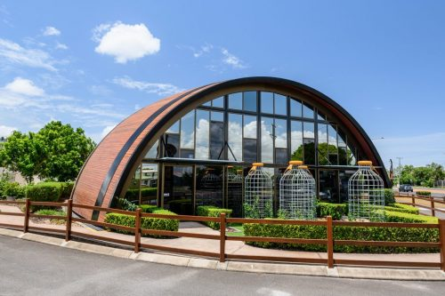 Outside view of the Bundaberg Barrel where you can do a self guided tour