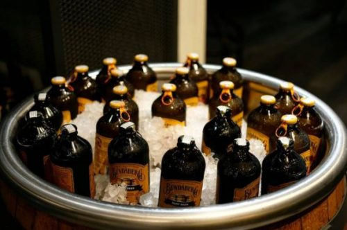 Bucket of ice cold root beer and sarsaparilla